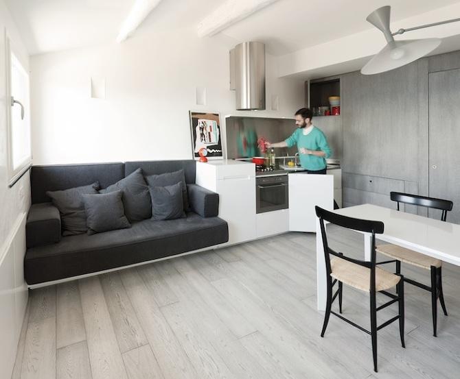 Tiny Apartment on the Italian Riviera by Gosplan Architects